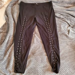 Lace up forever 21 legging